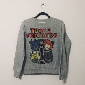 Transformers Sweaters - TRANSFORMERS Light Grey Sweater
